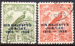 New Guinea (Territory Of) 1935 SG #206-07 Compl.set Used Silver Jubilee - Papouasie-Nouvelle-Guinée