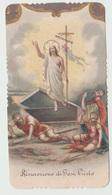 SANTINO - IMAGE PIEUSE - DEVOTIONAL IMAGES RISURREZIONE DI GESU' CRISTO (ACQUISTO MINIMO 4 SANTINI) - Imágenes Religiosas
