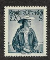 AUSTRIA - 1948 COSTUMES 2.20 SLATE - 1945-60 Ungebraucht