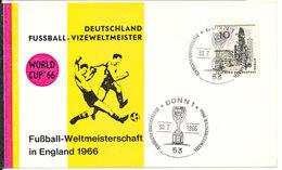 Germany Berlin Card Deutschland Fussball Vizeweltmeister Bonn 30-7-1966 - Coupe Du Monde