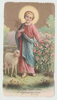SANTINO  IMAGE PIEUSE  DEVOTIONAL IMAGES GESU' BAMBINO BUON PASTORE (ACQUISTO MINIMO 4 SANTINI) - Imágenes Religiosas