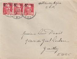 LETTRE. RECETTE DISTRIBUTION YONNE. GANDON BANDE DE 3  N° 827 - 1877-1920: Période Semi Moderne