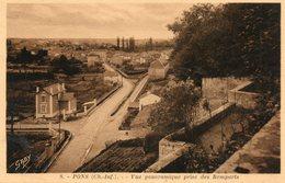 Pons -   Panorama  Prise  Des  Remparts. - Pons