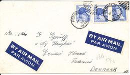 Canada Cover Sent To Denmark Penhold 22-4-1954 - 1952-.... Règne D'Elizabeth II