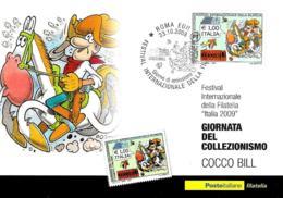 [MD2936] CPM - FUMETTI - COCCO BILL GIORNATA DEL COLLEZIONISMO - CON ANNULLO 23.10.2009 - Non Viaggiata - Bandes Dessinées
