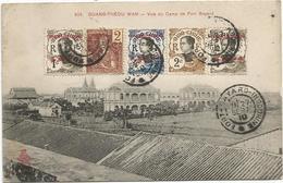 INDOCHINE MIXTE CHINA KOUANG TCHEOU AU RECTO CARTE FORT BAYARD 27 SEPT 1910 INDOCHINE RARE - Indochine (1889-1945)