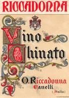 """07775 """"VINO CHINATO - O. RICCADONNA - CANELLI - ITALIA"""" ETICH. ORIG - Etichette"""