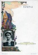 Menu Gaufré Vierge Mariée De Bannalec Collection Biscuits Lefévre-utile - Menus