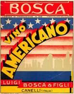 """07776 """"VINO AMERICANO - LUIGI BOSCA & FIGLI - CANELLI - ITALIA"""" ETICH. ORIG - Etichette"""