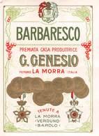 """07777 """"BARBARESCO - G. GENESIO - LA MORRA """" ETICH. ORIG - Etichette"""