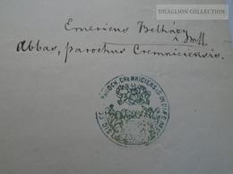 ZA183.2  Old Document -  Kremnic - Körmöcbánya -Slovakia - 1871 -  Franciscus Kutsera -Vozáry Majer Vedrinszky - Naissance & Baptême
