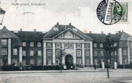 "CPA   DANEMARK---KOBENHAVN----RIGSHOSPITALET---TAMPON VIOLET "" TRYKSAGER ""---1910 - Danemark"