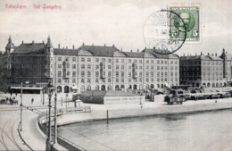 CPA   DANEMARK---KOBENHAUN----VED LANGEBRO --1909 - Danemark