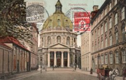 CPA   DANEMARK---KOBENHAUN----MARMORKIRKEN --1909 - Danemark