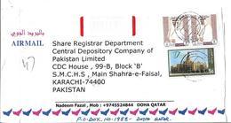 Qatar Airmail 1996 Sheik Hamed Ibn Khalifa AthThani 5 Ryal 2012 90 Years Of Qatari Endowment Deed - Qatar