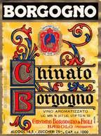 """07779 """"CHINATO BORGOGNO - GIACOMO BORGOGNO & FIGLI - BAROLO"""" ETICH. ORIG - Etichette"""