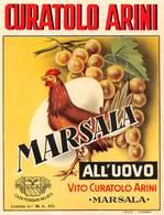 """07781 """"MARSALA ALL'UOVO - VITO CURATOLO ARINI - MARSALA"""" ETICH. ORIG - Etichette"""