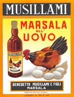 """07782 """"MARSALA ALL'UOVO - BENEDETTO MUSILLAMI & FIGLI - MARSALA"""" ETICH. ORIG - Etichette"""