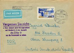 VORU / Estland / UdSSR -  -7.9.65 , Brief Nach Dresden , Postnebenstempel  Postleitzahl - 1923-1991 URSS