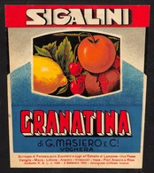 "07783 ""GRANATINA SIGALINI - DI G. MASIERO & C.I - VOGHERA"" ETICH. ORIG - Etichette"