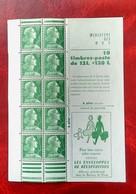 CARNET DE 10 TIMBRES MARIANNE DE MULLER VOYAGEURS NEUF** - Booklets