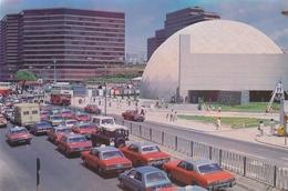 HONG KONG , TAXI CAR,  Space Museum, Vintage Old Photo Postcard - Chine (Hong Kong)