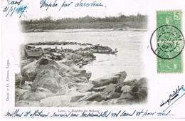 LAOS -Napho Par Saravane - Rapides Du Mékong - Ecrite En 1907  Par Chef  Bureau Militaire De La Garde Indigène - Laos