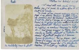 LAOS -Carte Photo Plateau Des Bolovens- Maison Sur Arbre- écrite En 1907 Par Chef  Bureau Militaire De La Garde Indigène - Laos