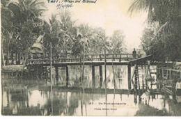 LAOS - Plateau Des Bolovens-Un Pont Annamite-- écrite En 1906 Par Chef  Bureau Militaire De La Garde Indigène - Laos