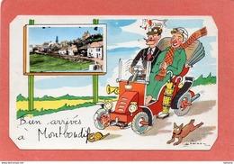 MONTBOUDIF   CONDAT   CARTE   HUMORISTIQUE   STYLE CARTE SYSTEME   An: 1964   Etat: TB   Edit: J P - Francia