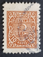 1947, Resmi Official Stamp, Used, Türkiye, Turkey - 1921-... République
