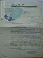 ZA183.8  Hungary  DUNLOP Rubber Co. Ltd. London - Magyarországi Vezérképviselete - 1938 - Facturas & Documentos Mercantiles