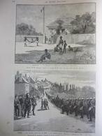 Les Grandes Manoeuvres De L'armée , Dessins Et Gravures  De Tinayre 1892 - Documenti Storici