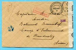 Zensurbrief Camp Militaire D'Internement Suisse Märwil - Documents