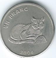 Congo - 1 Franc - 2004 - African Golden Cat (KM174) - Congo (République Démocratique 1998)