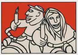 Cpm ERGON - Couple à Vélo - Cyclistes - Cyclisme - Bicyclette - Illustrateur - Illustrateurs - Ergon