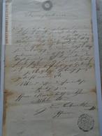 ZA183.11  Old Document WIEN -  15 Kr -1850 - Naissance & Baptême