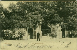 AK GERMANY - DESSAU DAS LUSTGARTEN THOR -  EDIT W. H.  - STAMPS 1900s ( BG2966) - Dessau