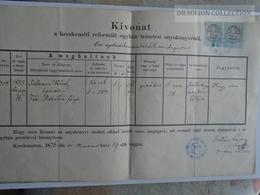 ZA183.12  Old Document  Hungary  -KECSKEMÉT  1876 - Fördős Lajos Ref. Lelkész - Salamon Károly - Décès