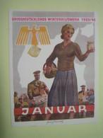 Winterhilfswerk (WHW),  Türplakette Januar 1940, Tieste 640.1 - 1939-45