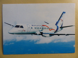 REGIONAL AIRLINES   SAAB 340    AIRLINE ISSUE / CARTE COMPAGNIE - 1946-....: Ere Moderne