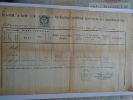 ZA183.15  Old Document  Hungary  GYULA - Juliána MÉHES - (Ferencz- Susána Szabó)  1873 - Papp Mihály Lelkipásztor - Naissance & Baptême