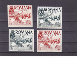 SPAIN - EXILE ,EUROPA,BEARS ,IMPERFORATED + PERFORATED.1957,FULL SETS,MNH,ROMANIA. - Emisiones Locales