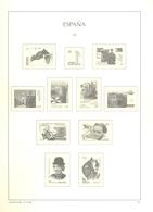 España - Suplemento LEUCHTTURM Año 1998 - Montado Con Filaestuches Transparentes - 9 Hojas - Envio Gratuito A España - Pre-Impresas