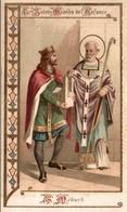 CHROMO IMAGE RELIGIEUSE LA CHICOREE A LA FRANCAISE LES SAINTS MODELES DE L'ENFANCE SAINT-MEDARD - Images Religieuses