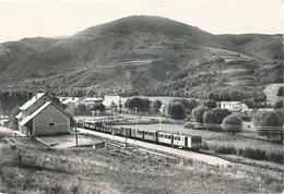ERR - N° 1 - LA GARE (TRAIN JAUNE) (C P S M 15 X 10.5) - Autres Communes