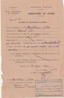 Déclaration Juin 45 / Préfecture / Vol De Montre Par Troupes Allemandes / Bontemps 25 Saint-Vit / Doubs - 1939-45