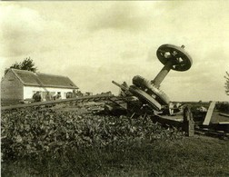 NEDERBRAKEL - Brakel (O.Vl.) - Molen/moulin - Zeldzame Opname Van De Topmolen In 1914 Na Vernieling - Brakel