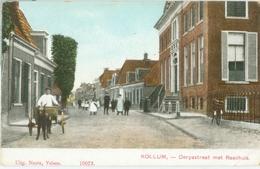 Kollum; Dorpsstraat Met Raadhuis En HONDENKAR - Niet Gelopen. (Nauta - Velsen) - Autres
