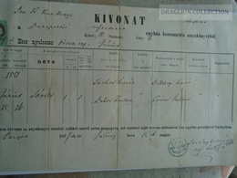 ZA183.18  Old Document  Hungary  DUNAPATAJ - 1877 Farkas Sándor -Szanyi - Naissance & Baptême